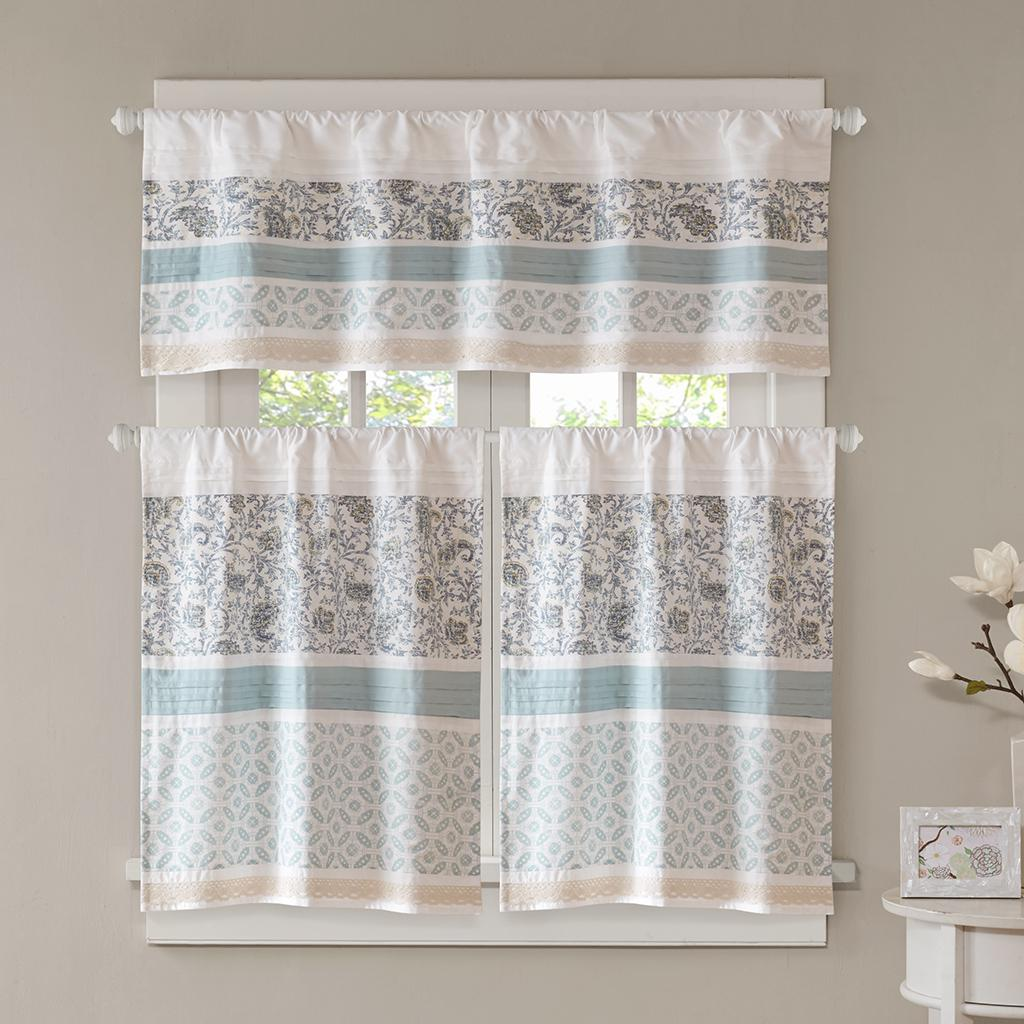 kitchen tier curtains outdoor storage dawn printed and pieced rod pocket tiers brown