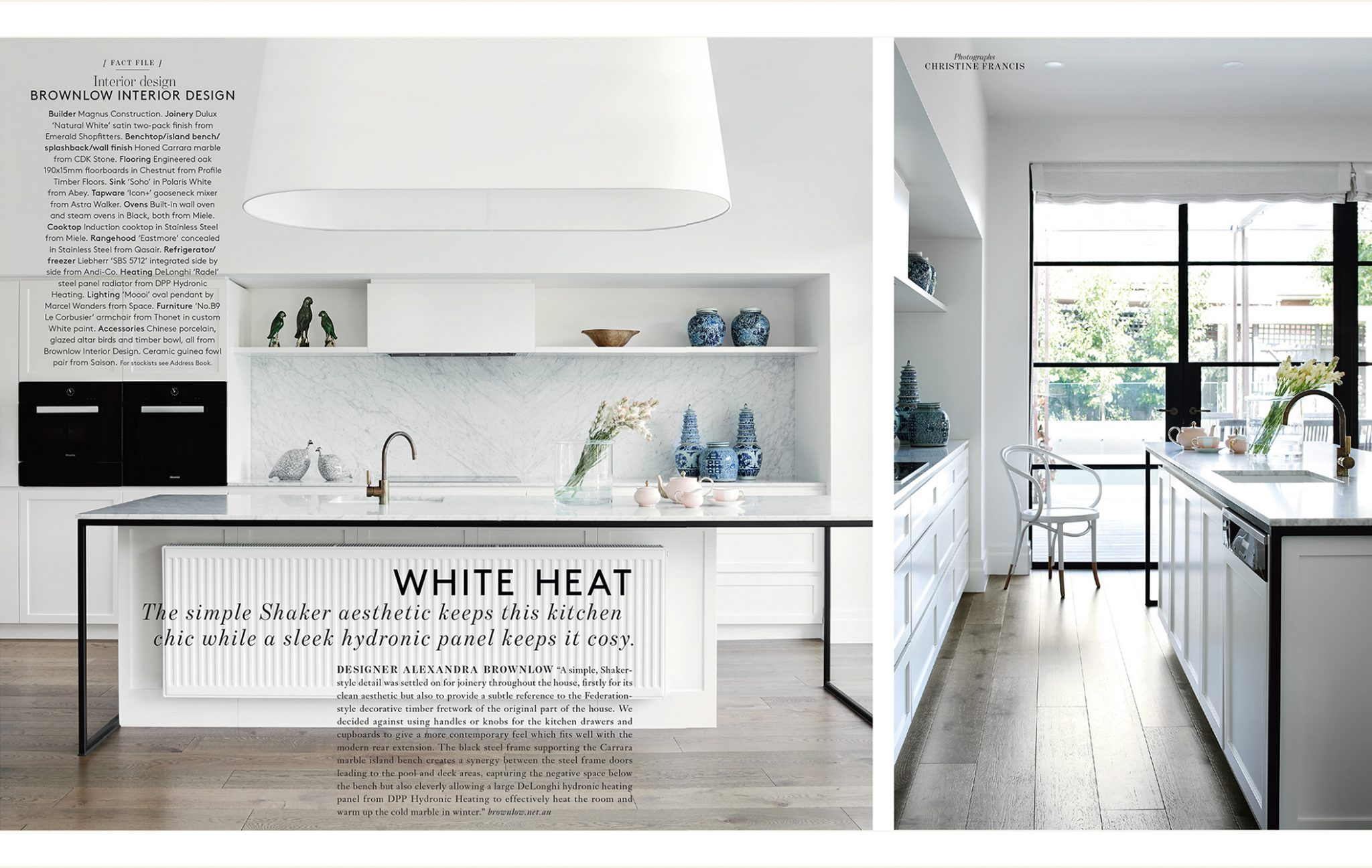 kitchen magazine long rugs belle bathrooms april issue 2018