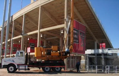 Drilling Stadium Piers