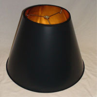 Black Parchment Empire Lampshade with Gold Foil Lining ...