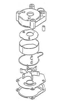 Suzuki Water Pump Repair Kit 17400-94553