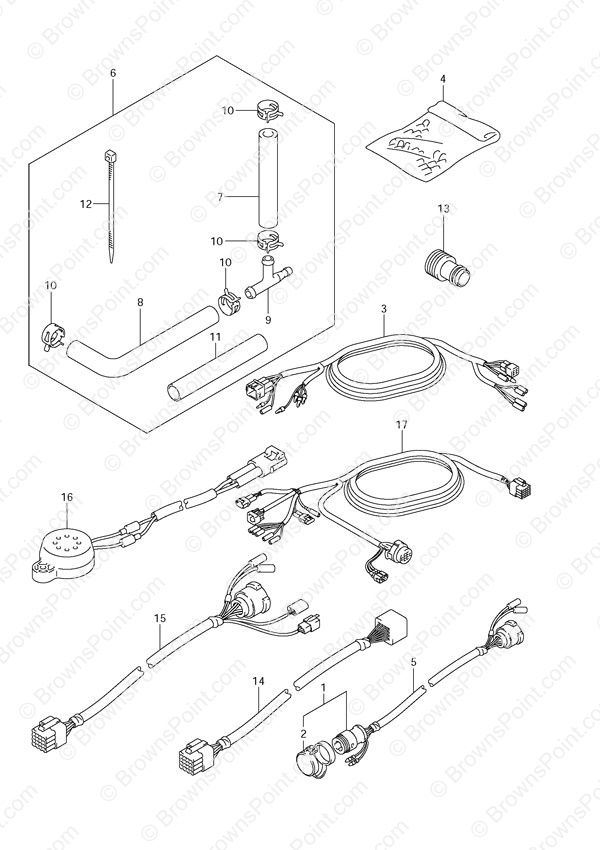 suzuki df140 wiring diagram three line solar fig. 54 - opt: harness df 140 parts listings 2002 to 2011 s/n 14001f-251001 ...
