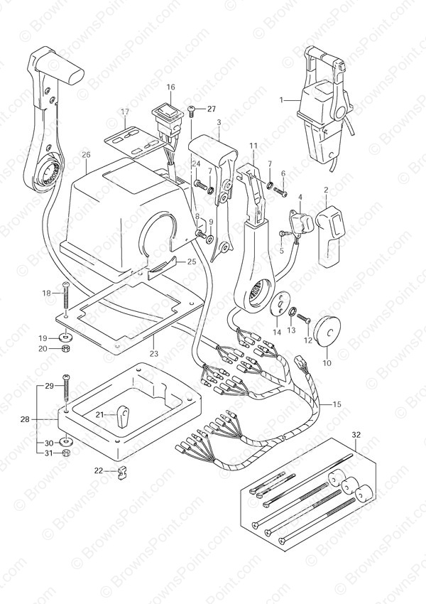 mercury outboard switch box wiring diagram electrical switches diagrams fig. 60 - opt: top mount dual (1) 2005 to 2011 suzuki df 140 parts listings 2002 ...