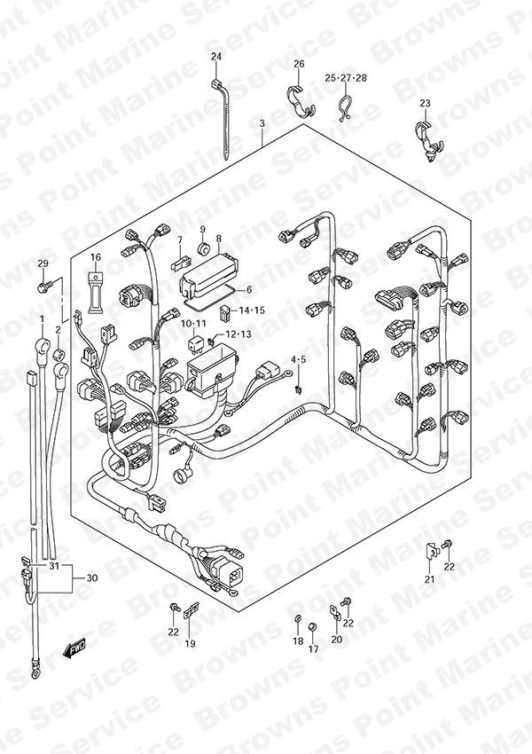 Suzuki Wire Harness 36610 14d21