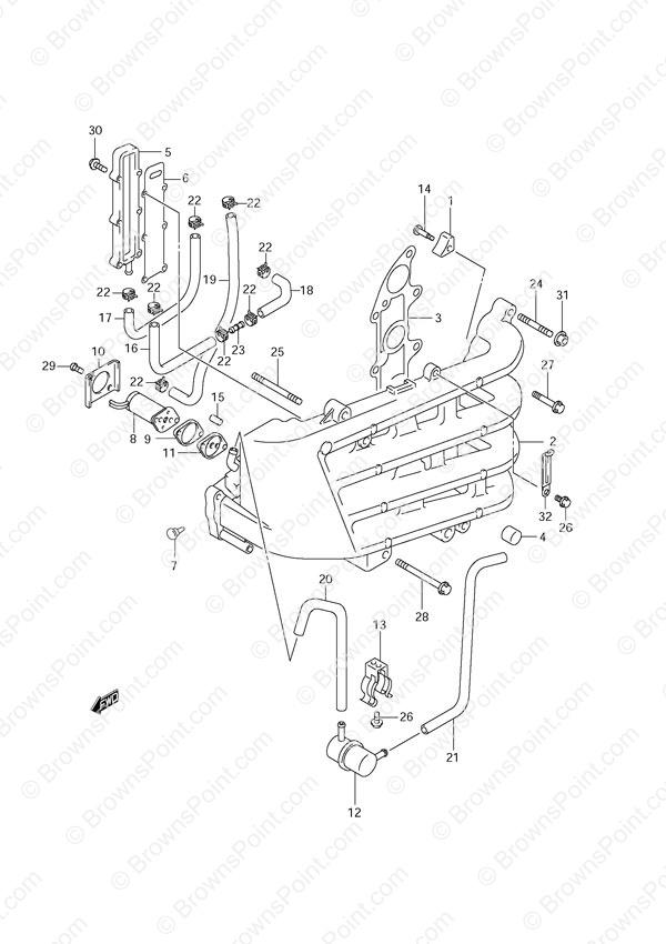 mercury 115 wiring diagram 1955 chevy light switch fig. 10 - inlet manifold suzuki df 70 parts listingss 2001