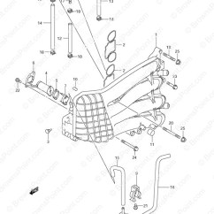 Marine Engine Cooling System Diagram Nissan Navara Wiring D40 Fig. 11 - Inlet Manifold Suzuki Df 70 Parts Listingss 2002 To 2008