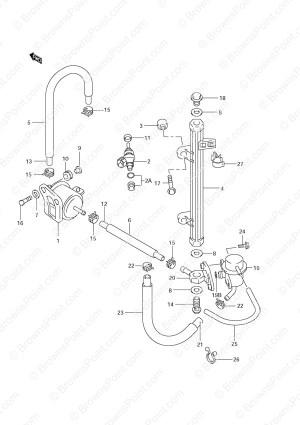 Fig 17  Fuel Injector  Suzuki DF 70 Parts Listings  SN 972015 & Older