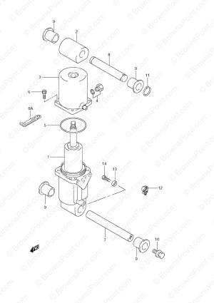 Fig 38  Trim Cylinder  Suzuki DF 70 Parts Listings  2001 to 2008