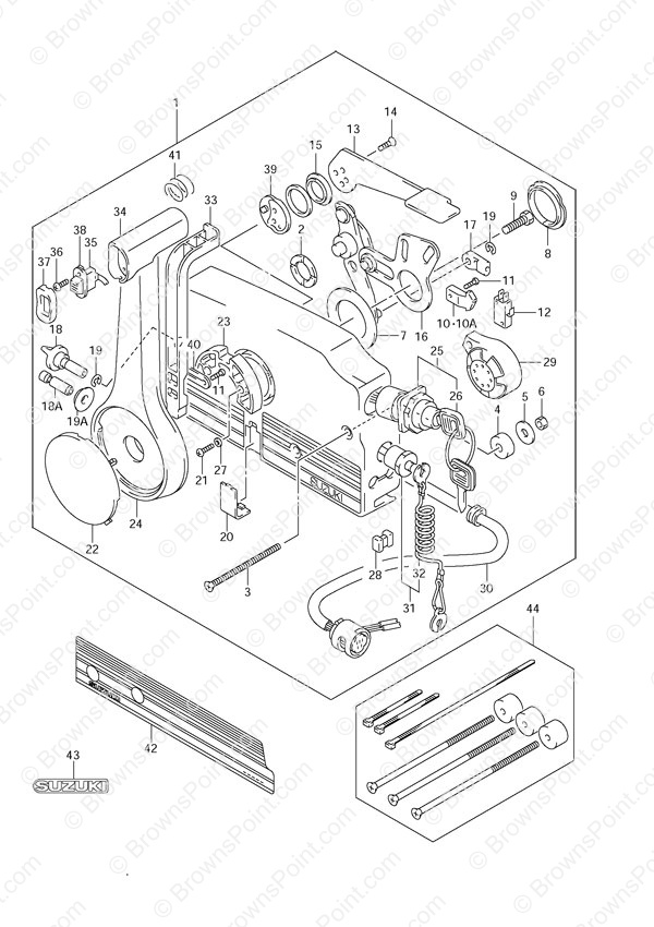 johnson outboard ignition wiring diagram what is the meaning of venn fig. 52 - opt: remote control suzuki df 70 parts listings 1998 to 2003