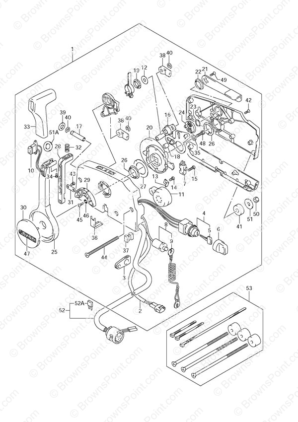 johnson outboard ignition wiring diagram 2000 land rover discovery 2 fig. 54 - opt: remote control suzuki df 70 parts listings 2005 to 2008