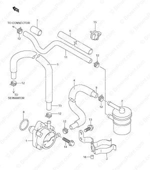 Fig 12  Fuel Pump  Suzuki DF 115 Parts Listings  DF 115T (SN 681517 & Older)
