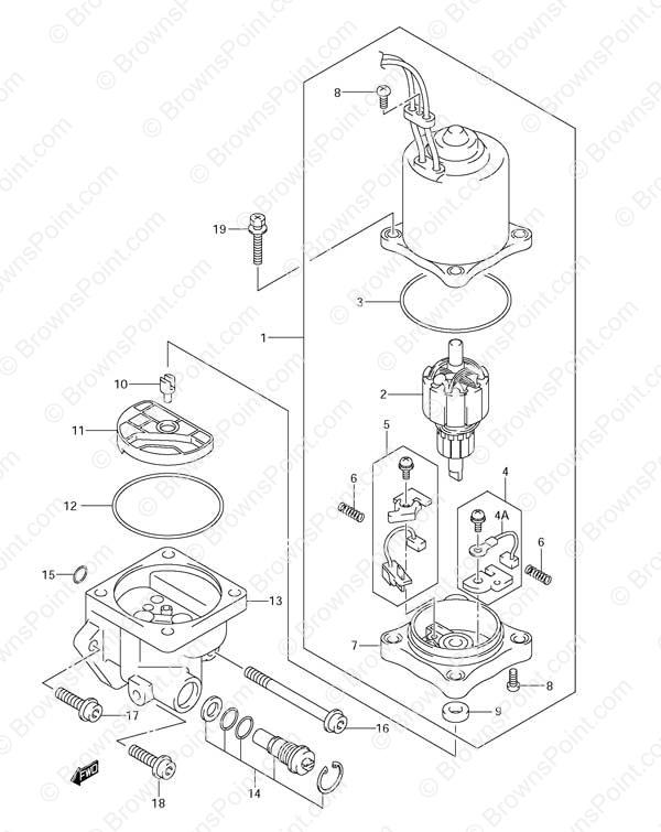 Suzuki Outboard Anode Diagram. Suzuki. Auto Parts Catalog