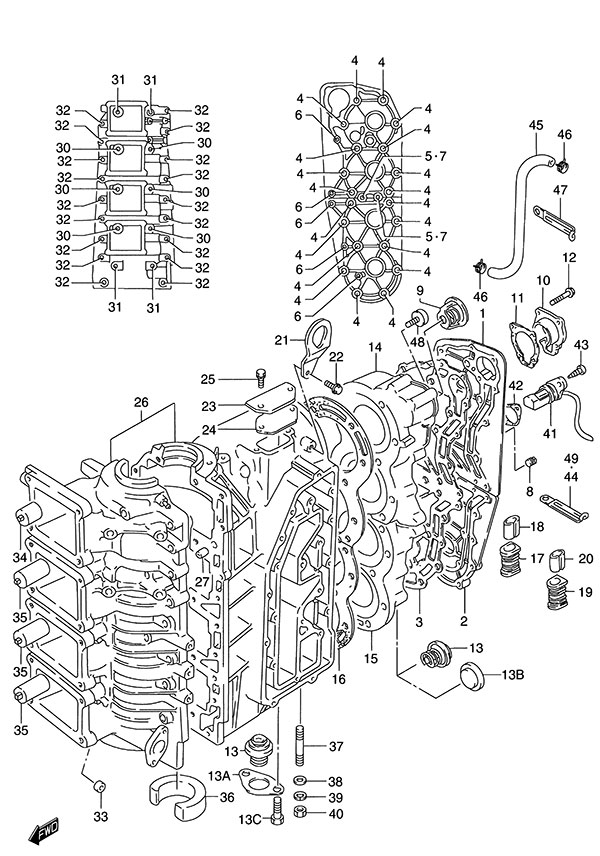 engine spare parts list