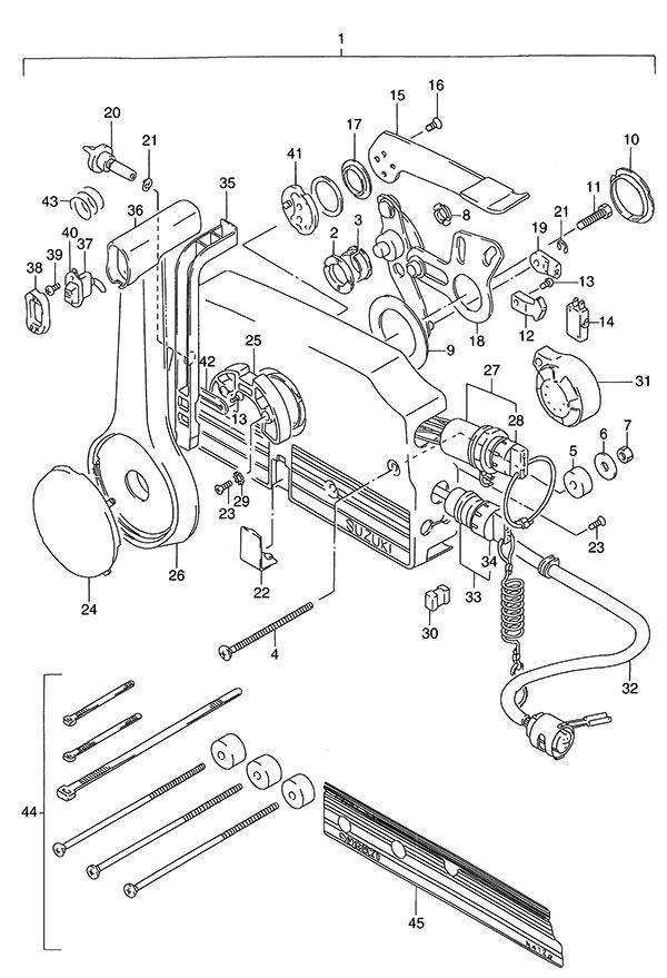 wiring diagram for ignition switch on mercury outboard 2010 ford ranger turn signal fig. 55 - remote control suzuki dt 140 parts listings 1986 to 1992