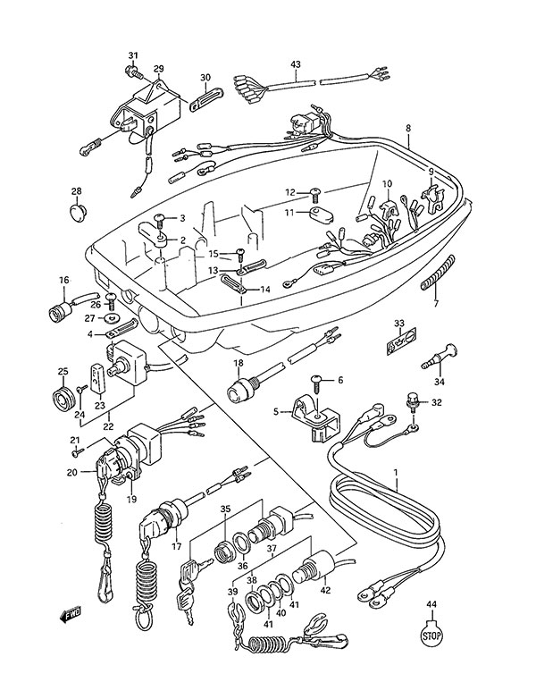Suzuki Df40 Outboard Wiring Diagrams Suzuki Parts Diagram