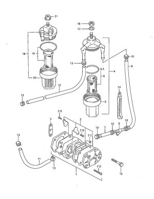 Fig 6A  Fuel Pump  Suzuki DT 40 Parts Listings  1995