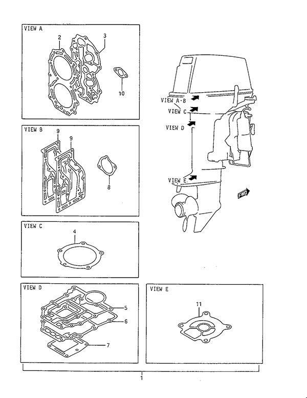 mercruiser trim pump wiring diagram 5 pin trailer plug south africa suzuki outboard parts dt 40 listings browns point marine fig 49 gasket set