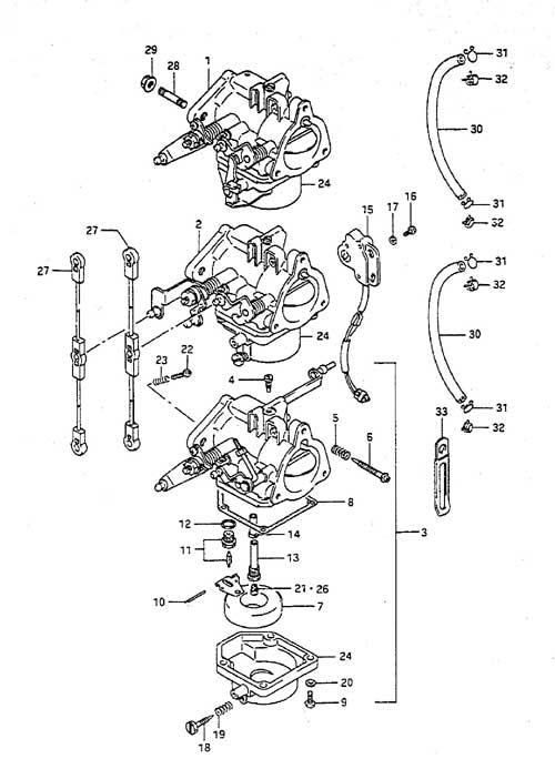 Wiring Diagram Fig 4 Carburetor Suzuki Dt 55 Parts Listings 1988