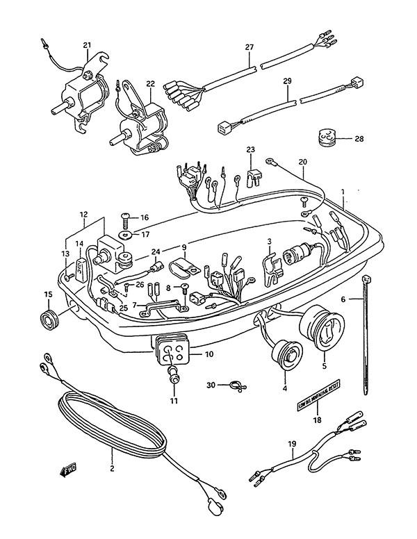 Mercury Outboard Internal Wiring Harness