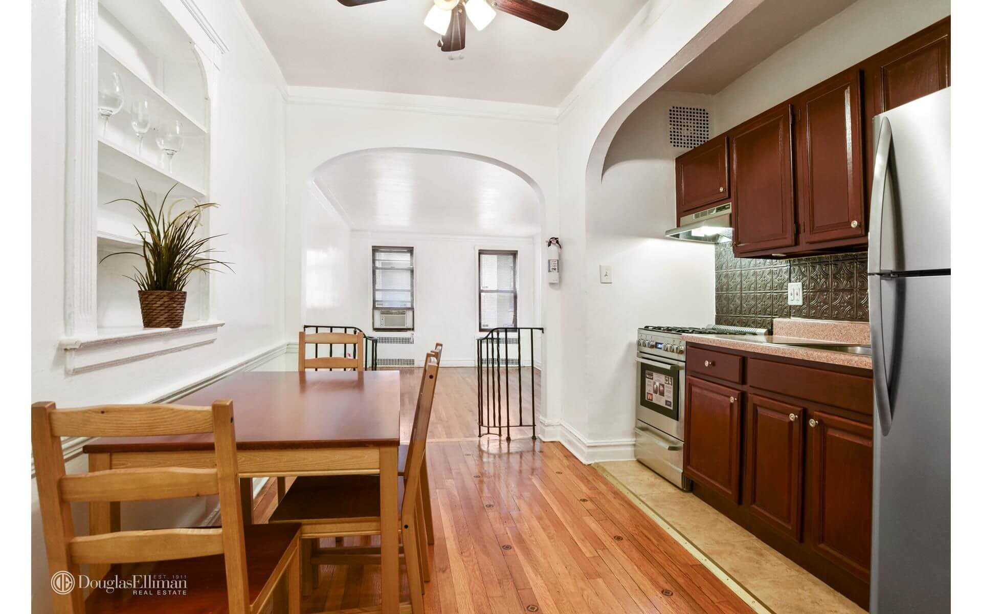 laminate flooring sunken living room storage shelves for brooklyn apartments sale in flatbush at 3220 avenue h brownstoner condo co op of the day