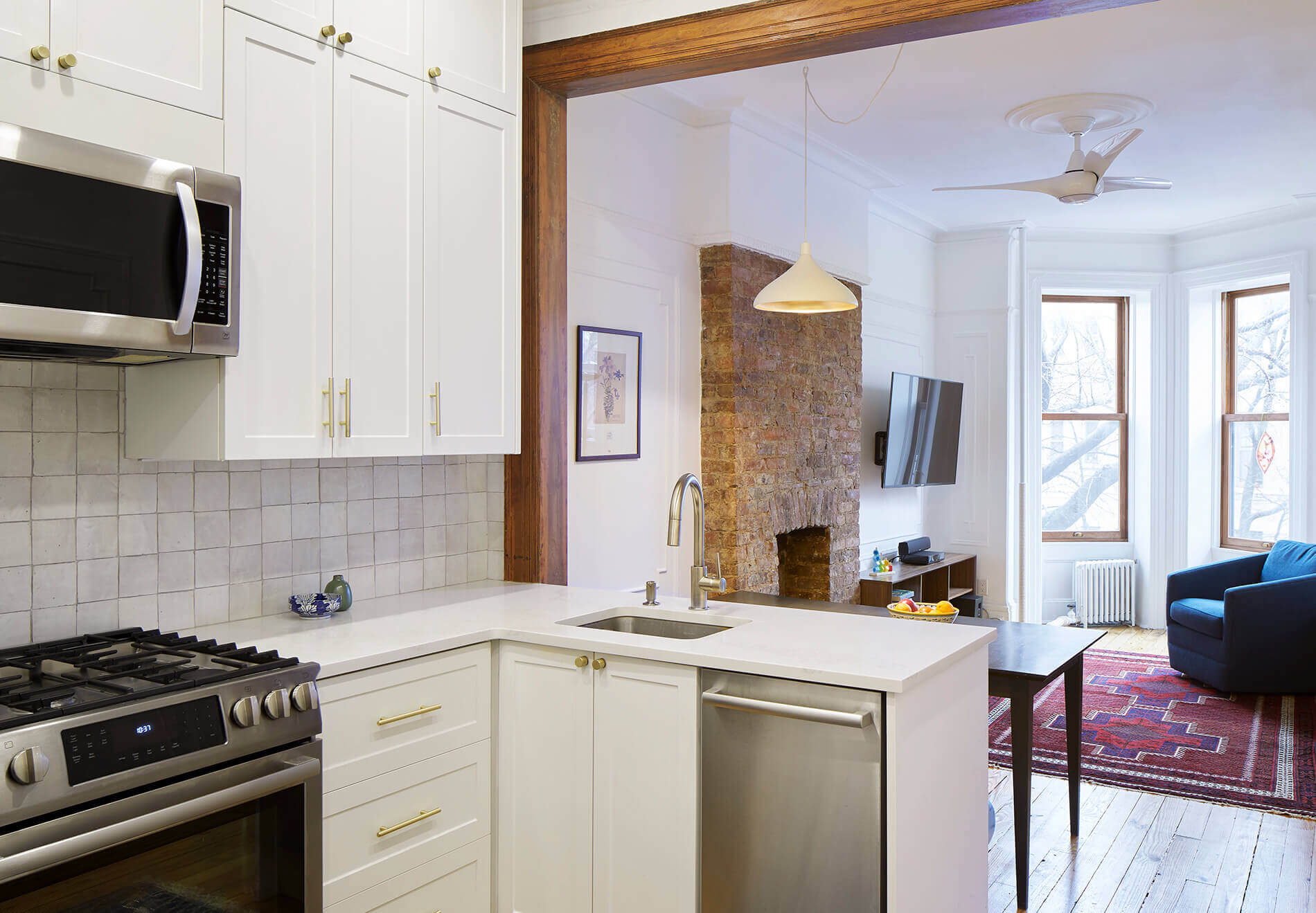 The Insider Light Low Cost Renovation Turns Park Slope Railroad Apartment Into Sweet Family Home Brownstoner