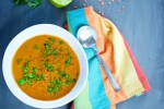 carrot, tomato and lentil soup