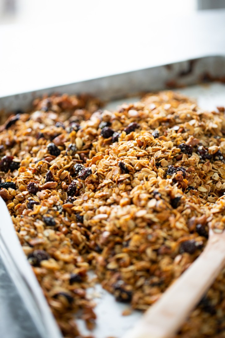 fresh out of the oven homemade granola