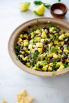 Pineapple salsa with black beans & avocado
