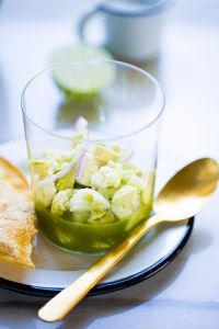 Recipe for vegan aguachile, easy, fresh and raw.