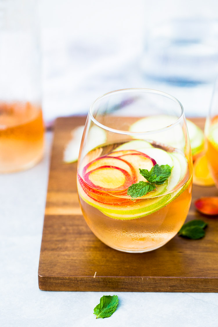 one glass of summer sangria