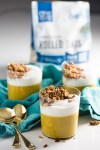 Delicious recipe for vegan pumpkin pie parfait with pecan granola clusters. You can decide if you'll eat it for breakfast or dessert.