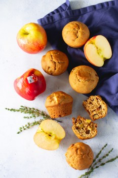 spiced apple and thyme muffins