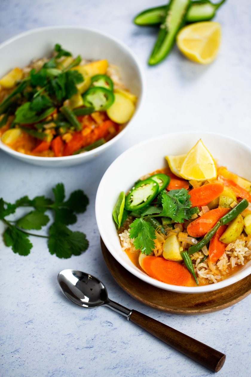 Easy vegan Thai curry