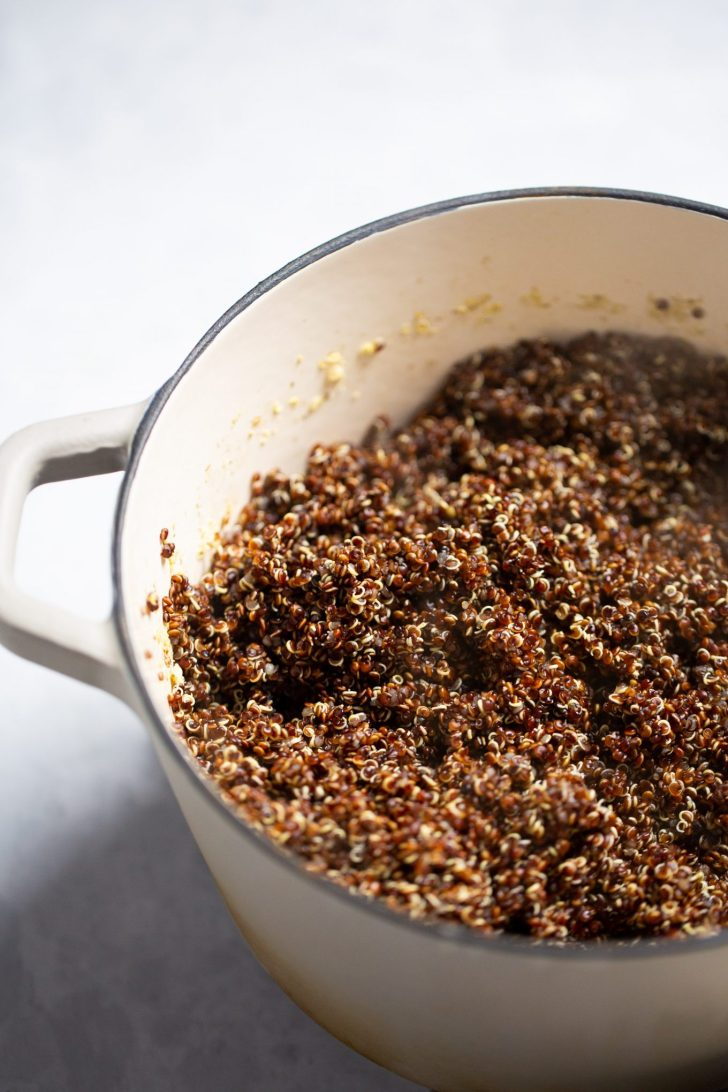 Pot of quinoa