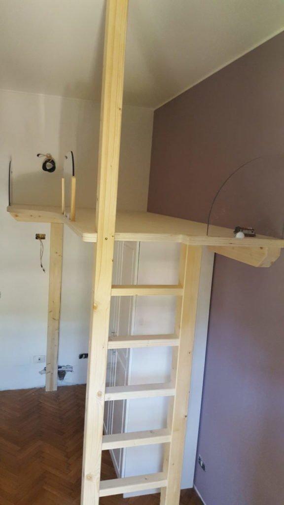 Soppalco per letto struttura letto rialzato - Struttura letto soppalco ...
