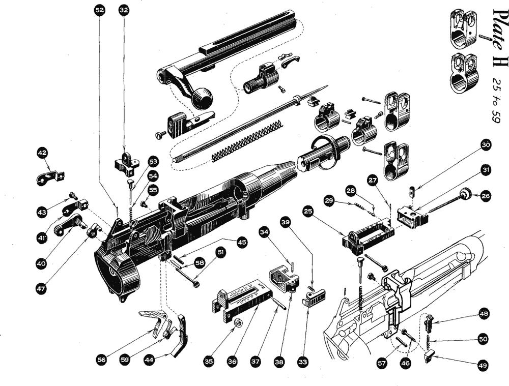 No.4 Mk.1 Rear Sight, Sear, & Safety Area Parts, SMLE