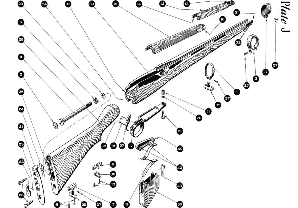 No.4 Mk.1 Stock, Trigger & Magazine Parts, SMLE