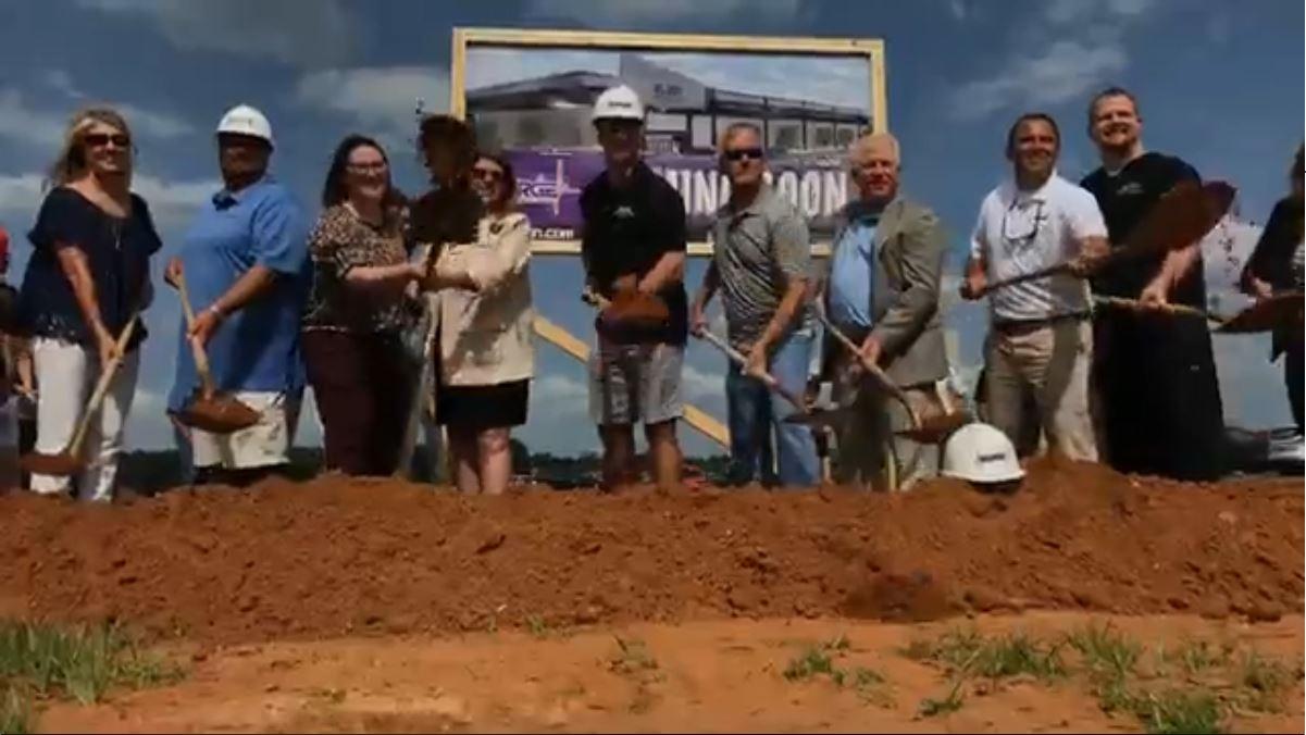 Drew Brees Helps Break Ground On Surge Entertainment Center