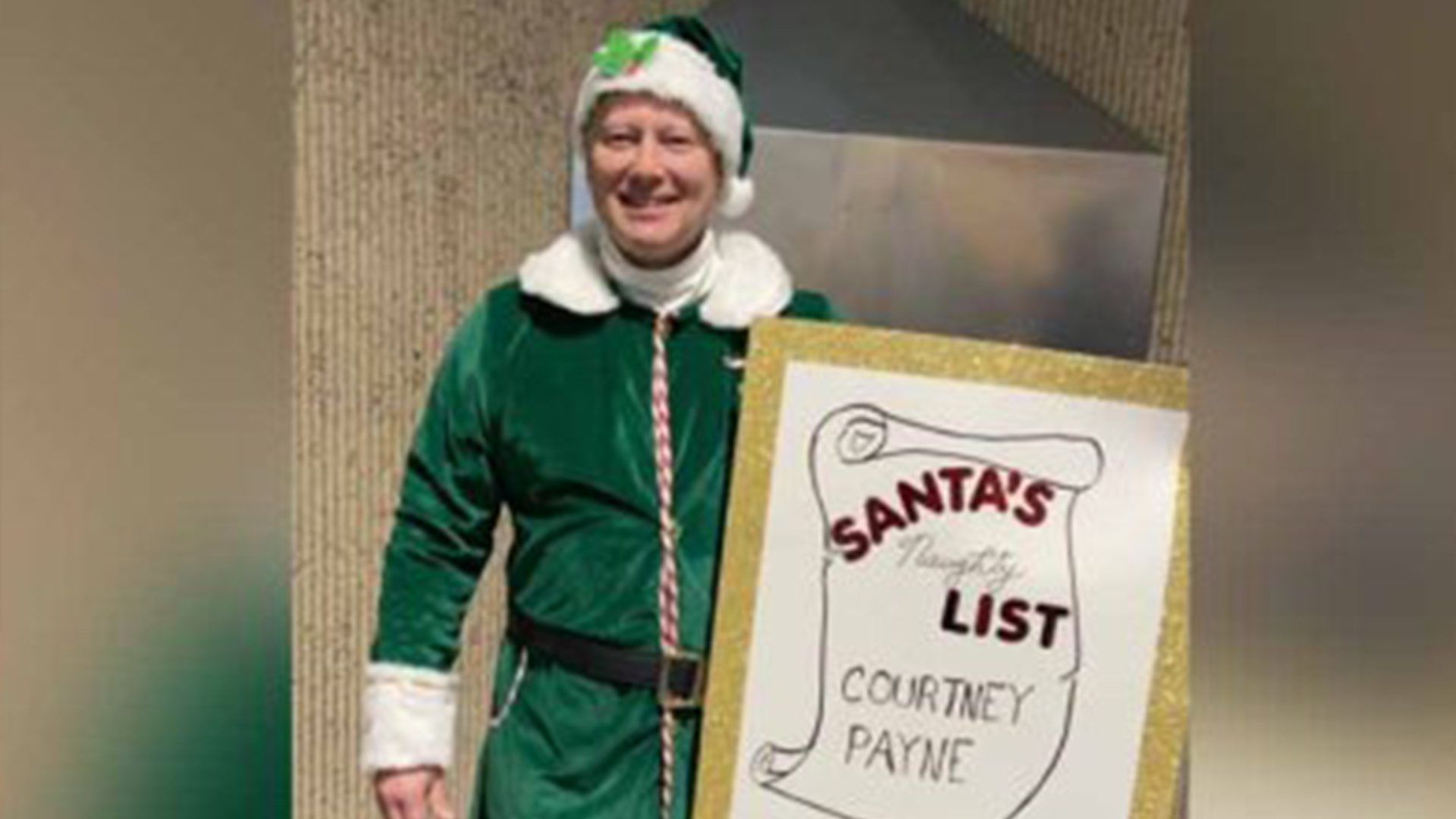 Dad Picks Up Daughter From Airport In Elf Costume And Goes