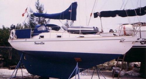 The Bahamas  Sailboat
