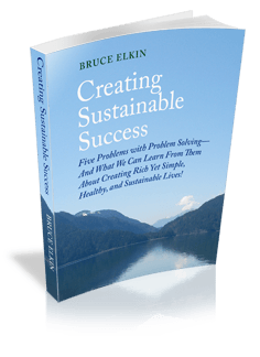 A 3-D photo of the book Creating Sustainable Success, by Bruce Elkin.