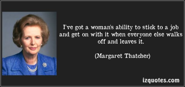 Thatcher stick to the job. 650