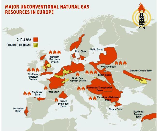 Fracking map Europe 650