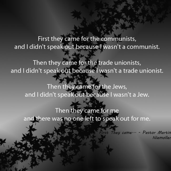 First they came for #2 650