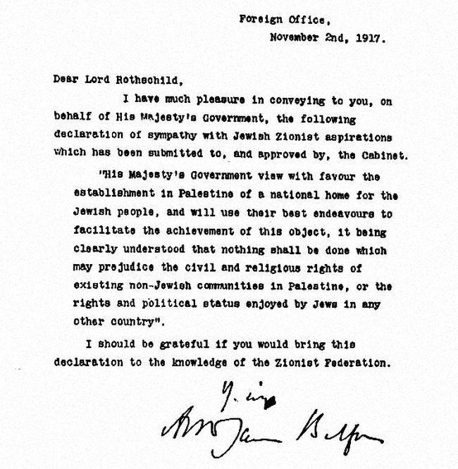 Israel balfour declaration bigger 650
