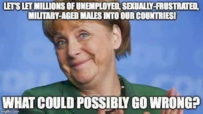 Islam military aged Merkel 650