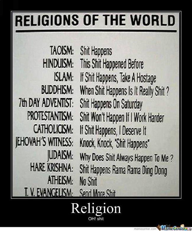 Religion = shit