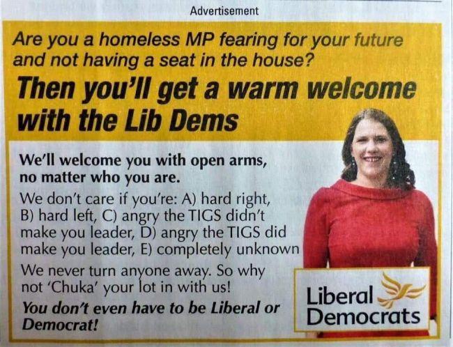 Liberal Democrats = New Labour