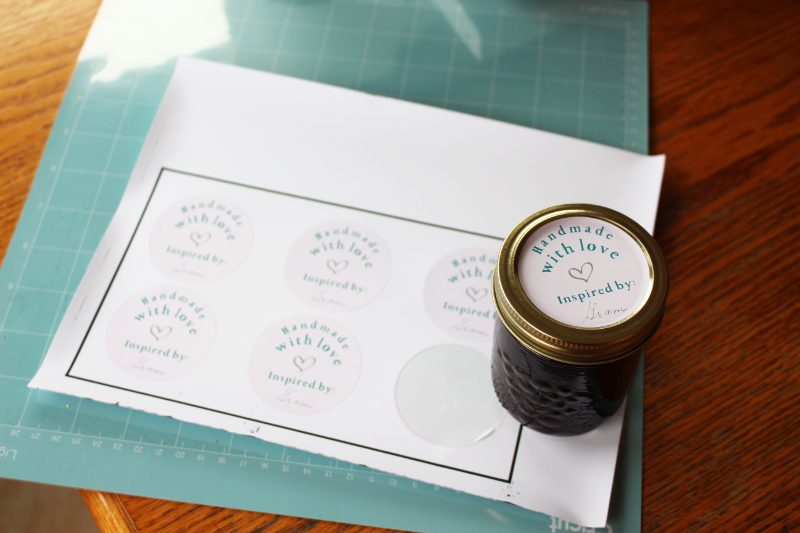 cricut maker jam labels