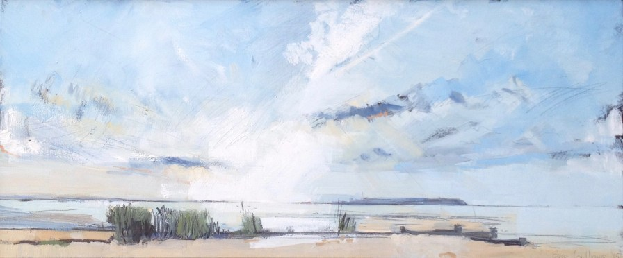Low Light Glare, whitstable. Image size 36 x 13cm. Mounted and framed - 53 x 26cm